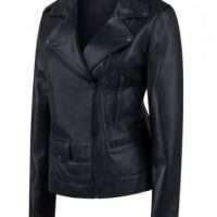 Female Black Sheepskin Leather Jacket