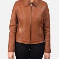 Colette Tan Brown Leather Jacket
