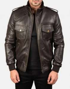 Mens-Agent-Shadow-Brown-Leather