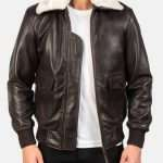 Airin G-1 Brown Leather Bomber Jacket