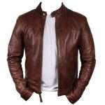 Men's Brown Simple & Stylish Leather Jacket